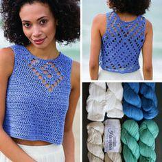 Best 11 collage of spiral seashell Crochet Top Outfit, Crochet Blouse, Crochet Clothes, Crochet Bandeau Tops, Crochet Tank Tops, Knitting Patterns, Crochet Patterns, Hand Knitting, Filet Crochet