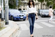 #barbaramartelo #denim #shirt #milan #mfw #women #fashionweek #ss15 #mbfw #fashion #style #look #outfit #streetfashion #streetstyle