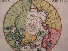 17th century engraved map of this North Pole