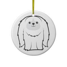Pekingese Dog Cartoon Ornament