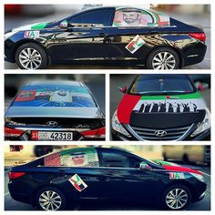 Vehicles decorated for UAE 43rd National Day PHOTO: amin.abdul