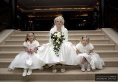 wedding formal shot stairs natural look