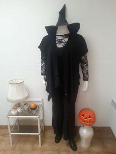 Des tenues pour fêter Halloween en Grande Taille et à Petits Prix, c'est sur www.desfemmesenplus.com (expédition sous 24h et livraison gratuite en Mondial Relay) et au Show-Room desfemmesenplus.com à Soissons(02) 1 Rue Racine (rond-point du Vase) du mardi au samedi de 10h à 12h30 et de 13h30 à 19h - le tee-shirt en dentelle extensible ( 6 coloris au choix) en 46/48-50/52 à 9.99€ seulement - le pantalon noir fluide et évasé du 46/48 au 54/56 à 19.99€