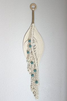 "Macrame Wall Hanging ""The pond no.12"" by HIMO ART, One of a kind Handcrafted Macrame/Rope art"