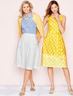 Pineapple & Dots Dress - Talbots - Apr 2016