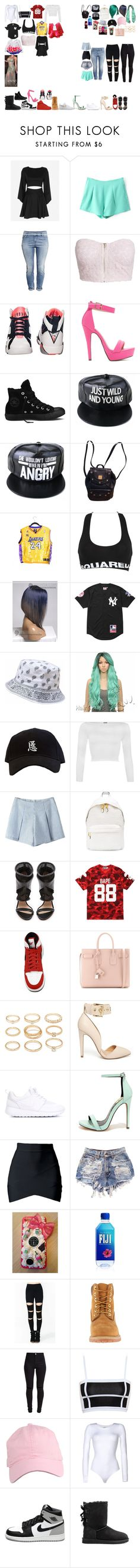"""Road trip with the family"" by royalsinthedark ❤ liked on Polyvore featuring Exclusive for Intermix, H&M, NLY Trend, Retrò, Converse, MCM, Dsquared2, Supreme, WearAll and Moschino"