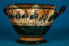 Drinking cup (skyphos) depicting chorus scenes | MFA for Educators