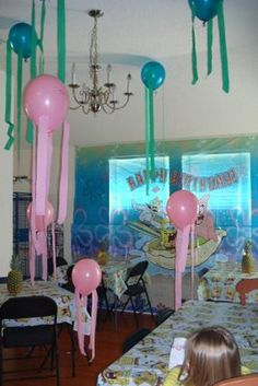balloon jellyfish, undersea kids party? Nemo? Celebrating your new pet goldfish? Cute idea anyways but not the spongebob