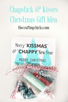 Chapstick & Kisses Christmas Gift Idea on www.thecraftingchicks.com