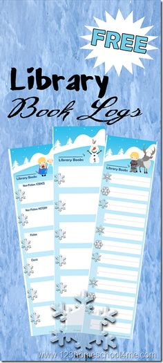 Disney! Free Disney Frozen Printable LIbrary Book Logs