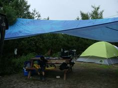 Diy tent vestibule with tarp sticks poles tent camping pinterest