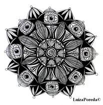 Flower mandala by Luiza Poreda