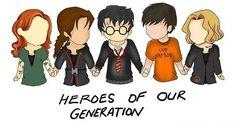 Clary Fray, Katniss Everdeen, Harry Potter, Percy Jackson, & Tris Prior