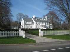 East Hampton White House. For the holidays it's covered in white lights and looks so beautiful!
