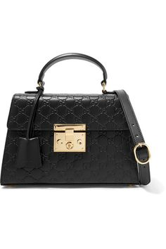 Black leather (Calf) Push clasp-fastening front flap Comes with dust bag Weighs approximately 2.6lbs/ 1.2kg Made in Italy