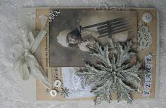 Silver Snowflake Mini Altered Clipboards