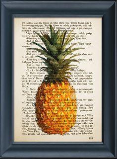 Kitchen decor Pineapple Print