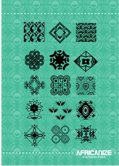 AFRICANIZE PATTERN FONT