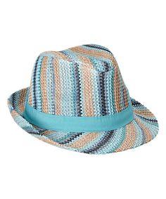 3fe1afa5df500 Love this Blue Stripe Fedora by Steve Madden on  zulily!  zulilyfinds Cute  Hats