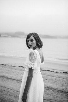 Vestido novia imperio plumeti – Boüret Atelier