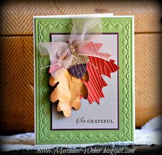Creations by Mercedes: Grateful Stamp a Stack Card