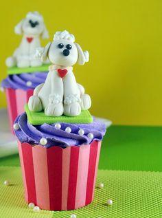 Asse feliz: Como fazer Fondant Poodle Cupcakes