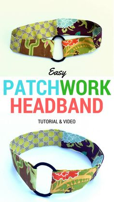 Easy Patchwork Headband Tutorial made with a pony-O. Plus video!! | DIY Crush