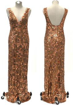 This amazing dress is made entirely of pennies!