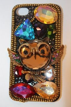 Trendy Bling Rhinestone IPhone Case Owl by ThePrettyLittleGeek, $24.00   I know this is real glitzy for you but I think it is sooooo cute!  Love, Mom
