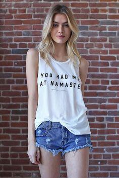 You Hade Me At Namaste Coachella Tank White #COACHELLA-TANK #LARGE #MEDIUM