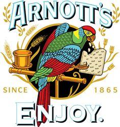 Arnotts Biscuits Logo by Osborne Swaniawski Australian Icons, Australian Vintage, Australian Garden, Arnotts Biscuits, Shops, Signwriting, Vector Online, Australia Day, I Remember When