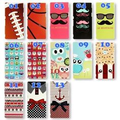 13 Kawaii Design Hard Plastic Cover Case for  Alcatel One Touch Pop C3 C5 C7 C9