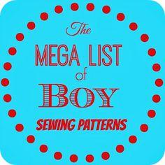 Mega List of Boy PDF Sewing Patterns - Boy, Oh, Boy, Oh Boy!