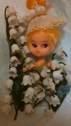 Ultra RARE Vintage Lily of Valley Flower Darling Pin Brooch Toy | eBay