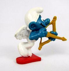 Vtg Bully Smurfs Peyo CUPID Smurf 20111 Schleich W. Germany PVC Figure Toy #Schleich