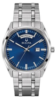 Bulova Classic 96C125 with subtle tones of metal, paired with redefined features such as day/date to embody enduring elegance that's always in style.