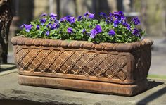 Woven cast stone Window Box made by Campania International