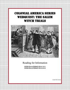 1000 images about teaching salem witch trials on pinterest salem witch trials witch trials. Black Bedroom Furniture Sets. Home Design Ideas