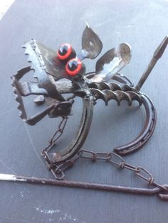Mig Welding, Welding Art, Metal Projects, Welding Projects, Rabbit Traps, Trap Art, Recycled Metal Art, Metal Garden Art, Junk Art