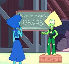 """timehuntress: """" One way to get feelings across to a cute nerd: use a calculated confession """" I can't help it. I want Lapidot to be a thing! Steven Universe Peridot, Steven Universe Ships, Steven Universe Funny, Lapidot, Desenhos Love, Cute Nerd, Steven Univese, Universe Images, Star Vs The Forces Of Evil"""