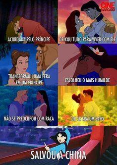 Mulan e Pocahontas 😍 Disney Pixar, Disney Memes, Disney And Dreamworks, Disney Magic, Best Memes, Funny Memes, Funny Princess, Funny As Hell, Princesas Disney