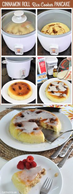 Cinnanon Roll Rice Cooker Pancake Easy Recipe Idea by Club Chica Circle