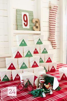 Countdown to #Christmas: Make Your Own Advent Calendar (http://blog.hgtv.com/design/2012/12/01/countdown-to-christmas-make-your-own-advent-calendar/?soc=pinterest)