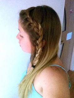 #hair#blonde#umbre#braid#straight#bangbraid