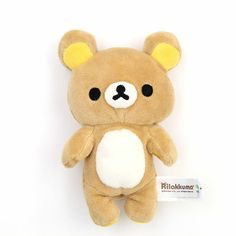 "Have Rilakkuma with you always! Soft and cuddly and the perfect napping buddy for anybody.  This little dude's dimensions are 5""x6.5""x3"" 