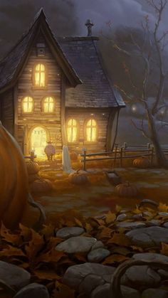 Foggy Halloween night