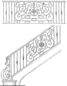 stair rail design | ... › Stair Rail Design Drawings › Stair Railing Designs ISR220
