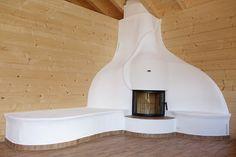 Kachelofen mit Ofenbank #Kachelofen #Ofen #Fireplace www.ofenkunst.de