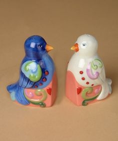 Take a look at this Lovebird Salt & Pepper Shaker Set by Jim Shore on #zulily today!  $12.99    4/18/13