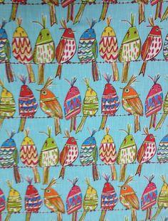 Sitting Pretty Bird Upholstery Fabric by ShopMyFabrics on Etsy